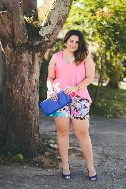 Look Agipce Plus Size – Rosa & Azul