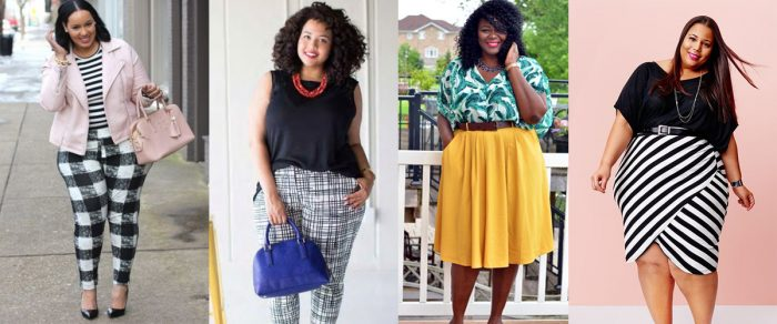 Como combinar estampas em looks plus size